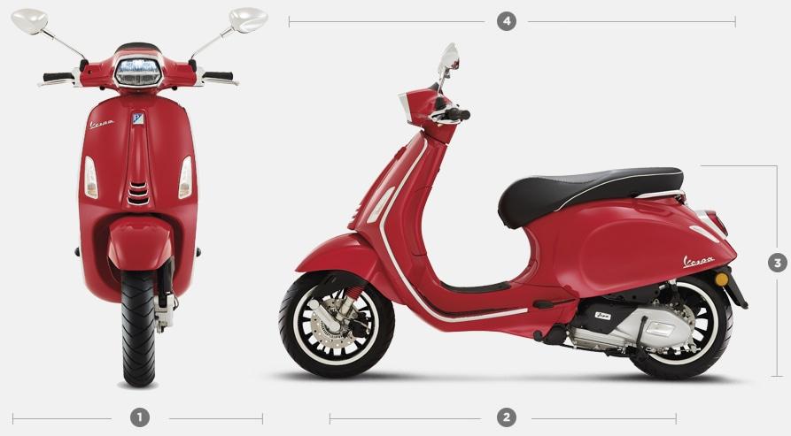 Vespa Sprint 50cc scooter