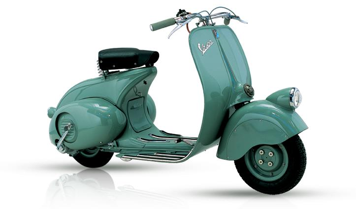 The First S Of Vespa Were Managed Through A Small Dealer Network And Price Standard Model Was 55 000 Lire While Deluxe Version Sold