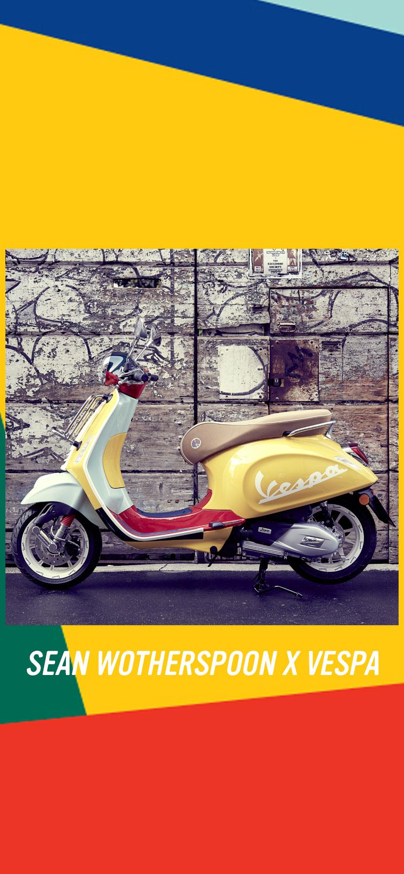 Sean Wotherspoon X Vespa Primavera scooter