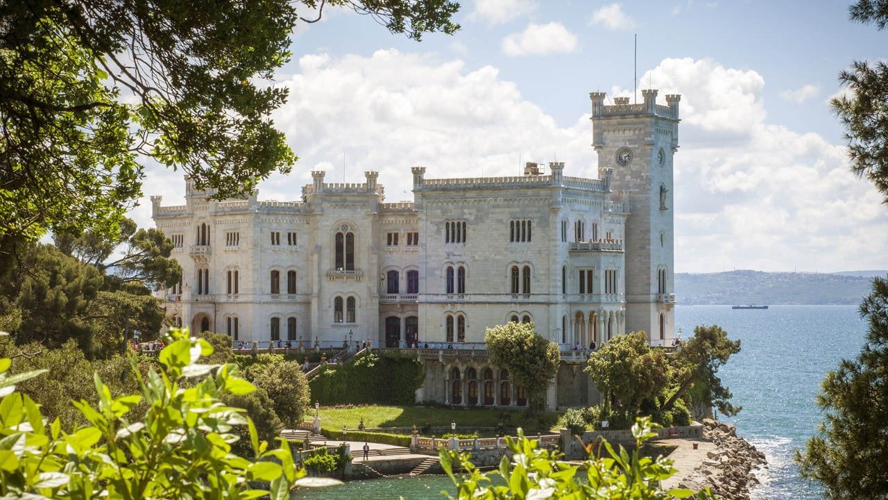 The wonderful Miramare Castle in Trieste
