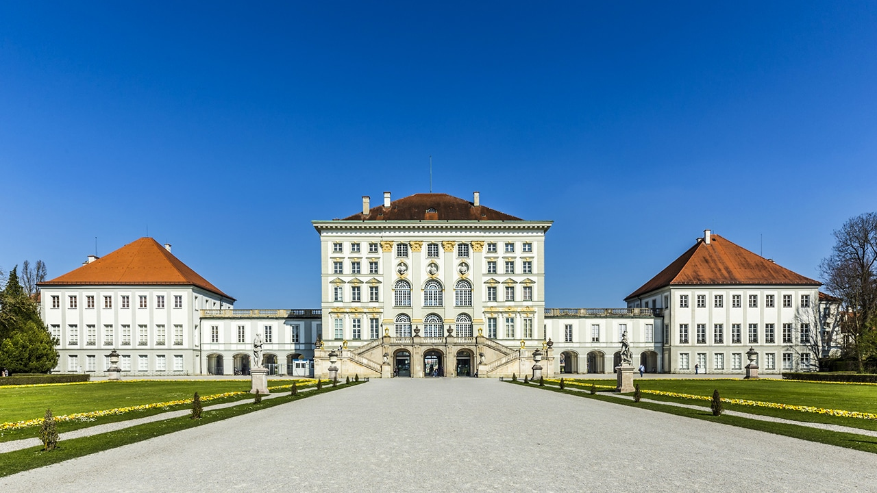 Il suggestivo castello di Nymphenburg