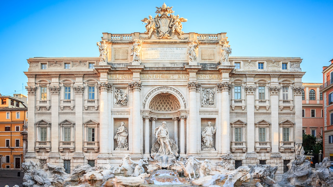 The unrivaled Trevi Fountain