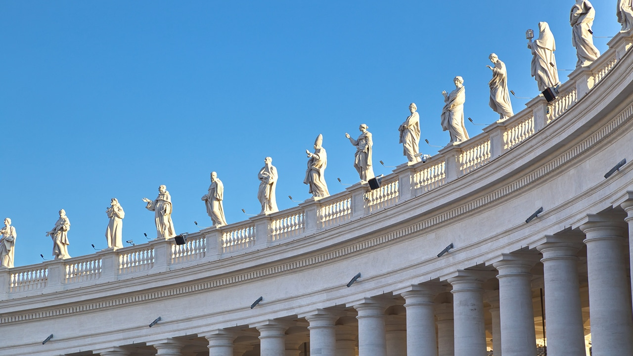 The charming St. Peter's Colonnade