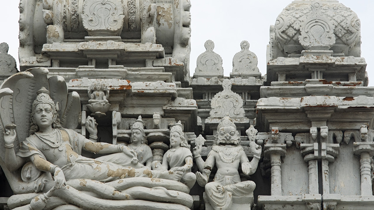 A detail of Sri Parthasarathy Temple